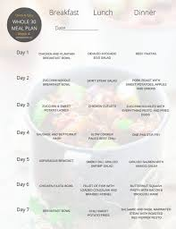 whole 30 meal plan for 30 days paleo gluten free eats