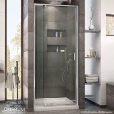 Shower Door 36 Dreamline Flex 32 To 36 In W X 72 In H Pivot Shower Door Free