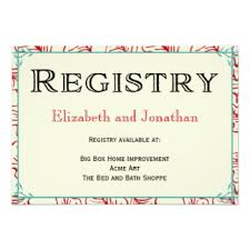 wedding registry cards registry cards for wedding etiquettes to follow everafterguide