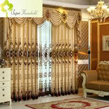 Noble Curtains Aliexpress Com Buy 1 Pc Luxury Jacquard Chenille Curtains For