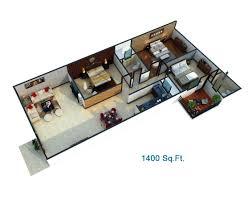 1400 sq ft house plans 3d arts