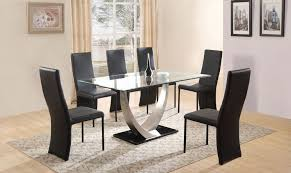 Glass Dining Table And Chairs Glass Dining Room Table With Black Base Tips To Choose Glass