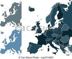 map europe vector europe map set of europe vector highly detailed maps vector clip