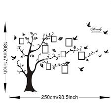 Black Art Home Decor 3d Sticker On The Wall Black Art Photo Frame Memory Tree Wall