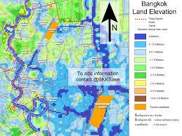 World Elevation Map by Bangkok Flood Elevation Map Bkkbase Random Grumblings
