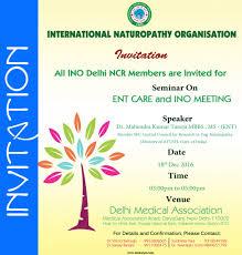 Invitation Card Format For Seminar Seminar On Ent Care And Ino Meeting Daryaganj New Delhi Inosurya