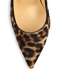 christian louboutin so kate leopardprint calf hair pumps lyst