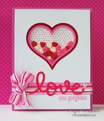 valintine cards you gorgeous shaker s day card cards crafts