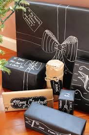 Michaels Gift Wrap - chalkboard inspired gift wrap confessions of a new old home owner
