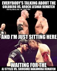 Aj Styles Memes - it s going to be awesome when aj styles and shinsuke nakamura
