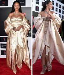 rihanna goes full on glam in gold at diamond ball and wait