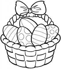 easter coloring pages free printable easter basket coloring page