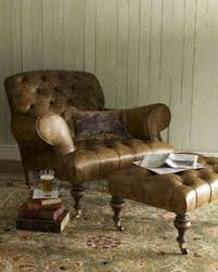 Leather Armchair With Ottoman 15 Best Den Images On Pinterest Leather Chairs Recliner Chairs