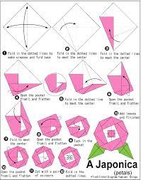 cara membuat origami bunga yang indah cara membuat origami bunga kamelia camellia cara membuat origami