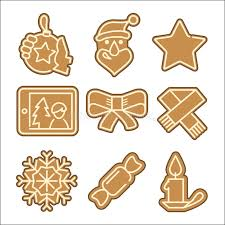 christmas cookie vector icons set stock vector image 47760222