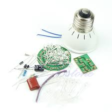 ootdty new energy saving 38 leds lamps diy kits electronic suite 1