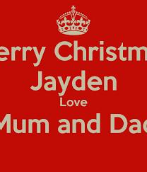 merry christmas jayden love mum dad poster charlie