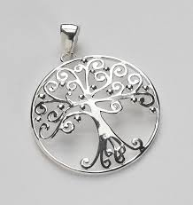 large silver necklace pendants images Southern gates large round tree of life pendant 33mm it 39 s about jpg