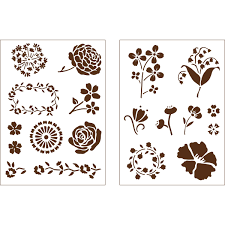 martha stewart crafts blossoms adhesive stencils 32269 plaid