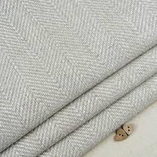 Grey Herringbone Curtains Linen Herringbone Weave Fabric Curtain Blind Vintage