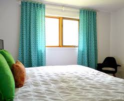 Bedroom Wall Of Curtains Curtains And Drapes Green Diy Window Curtain White Painted Wall