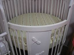 round crib sheet sewing service made with