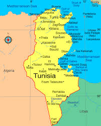 tunisia map map tunisia