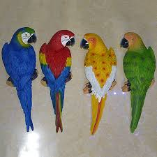 parrot home decor 31 10 8cm big size resin parrot wall hanging decoration crafts