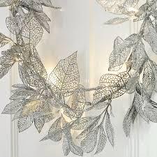 beautiful silver leaf garland for a winter wedding