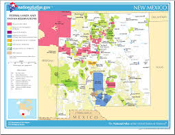 New Mexico State Map by Map Of New Mexico Map Federal Lands And Indian Reservations