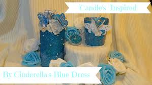 cinderella centerpieces diy glitter candle centerpiece inspired by cinderella s blue