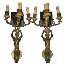 Candelabra Wall Sconces Winged Gargoyle Wall Mounted Candelabra Electrified For Sale At