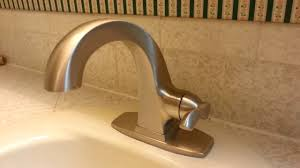 delta everly brushed nickle bathroom faucet youtube
