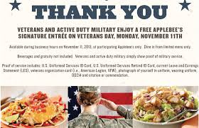 Free Military Business Cards Free Meal At Applebee U0027s For Active And Veteran Military Members