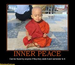 Inner Peace Meme - what you think becomes your action nick o pulse linkedin