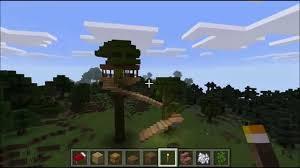 tree house design build minecraft windows 10 edition test video