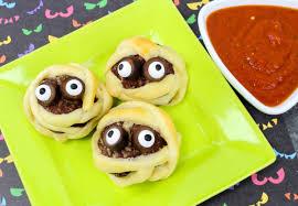 Halloween Dips Appetizers by Mummy Meatballs Halloween Appetizer In The Kids U0027 Kitchen