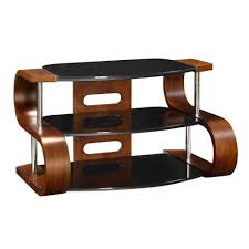 Tv Table Unusual Dark Wooden Modern Tv Stand 3 Tier Black Glass