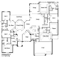 five bedroom floor plans 5 bedroom floor plans one story 5 bedroom house floor plan