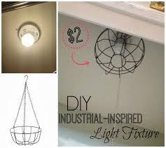 diy dollar store u0027industrial u0027 light fixture you never know where