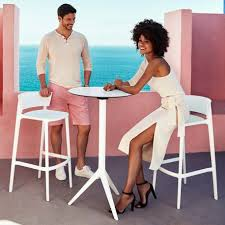 collapsible high top table mari sol high bar table with collapsible black or white table top
