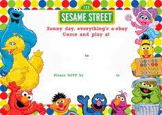 sesame street chalkboard invitation sesame letsgetchalky