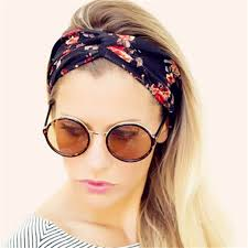 cool headbands new bohemian women turban headband multicolored flowers crossed