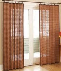 Bamboo Kitchen Curtains Sliding Door Curtains French Door Curtains Patio Door Curtains