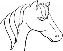 coloring pages horse head book page sheets printable profile with