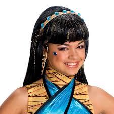 Monster Halloween Costumes Girls Cleo Nile Wig Monster Girls Fancy Dress Halloween