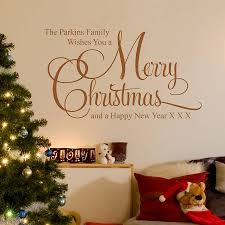 personalised christmas family wall stickers by parkins interiors