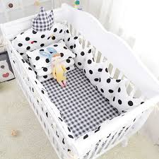 Crib Bedding Sets 9pcs Nordic Style Baby Bedding Set Breathable Cotton Crib Bedding