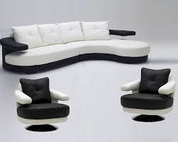 White Sofa Sets Leather Black And White Ultra Modern Full Leather Sectional Sofa Set 44l899