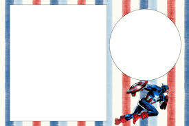 captain america free printable invitations fiesta geeks